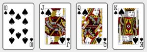トランプの10,J,Q,K