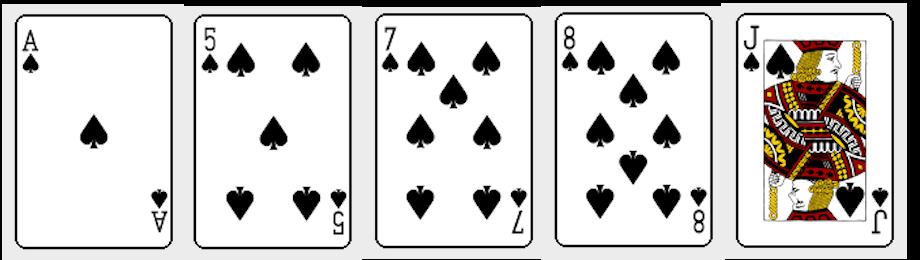 ポーカーのフラッシュ
