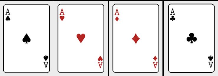 ポーカーのマークの強さ