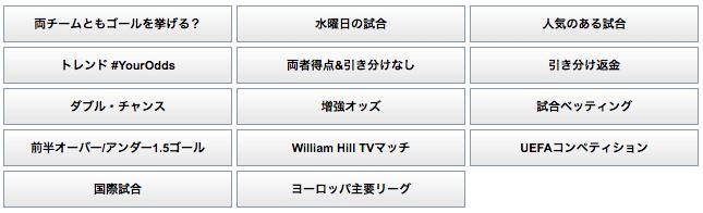 ウィリアムヒルのサッカー