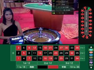ライブカジノハウスのハイリミットルーレット
