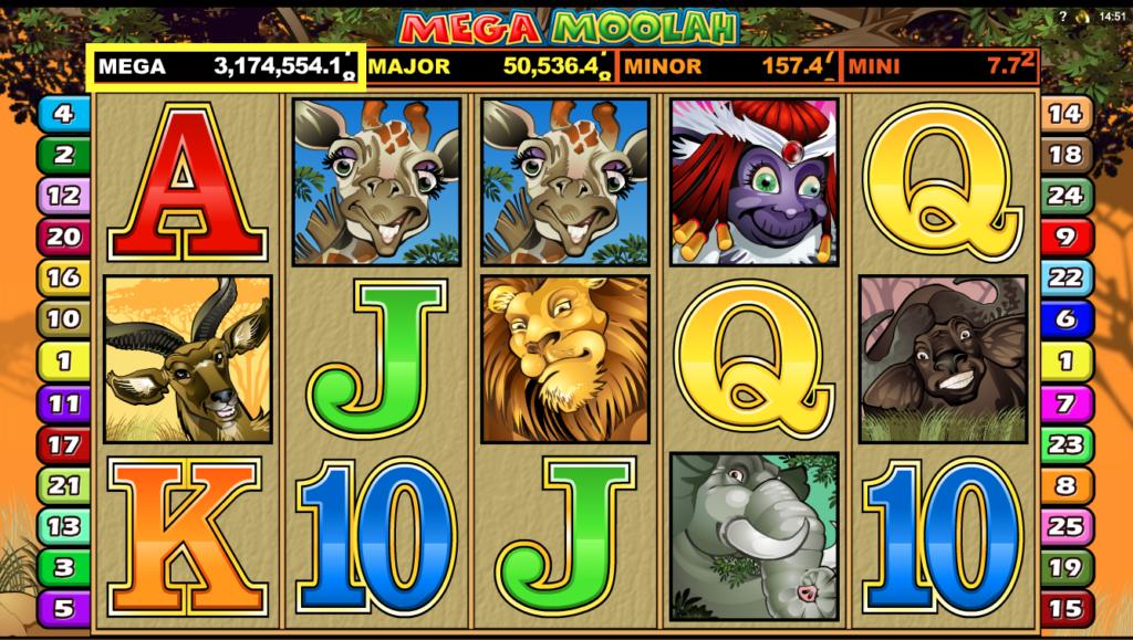 ジャックポットスロットのメガムーラ(mega-moolah)