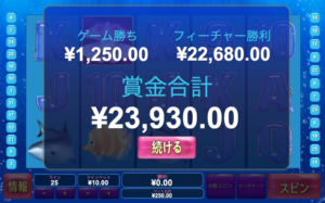 グレートブルーの勝利金が2万円超え