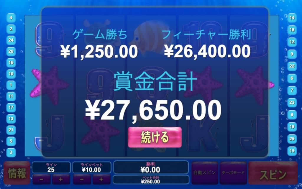 グレートブルーで3万円弱勝った