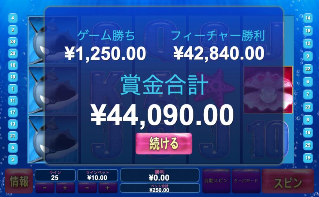 グレートブルーで4万円超えの勝利