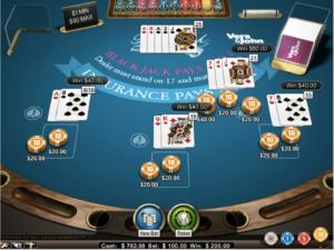 ブラックジャック1プレイで2万円勝ち